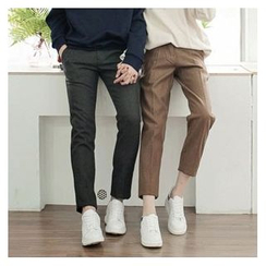 TOMONARI - Couple Wool Blend Dress Pants