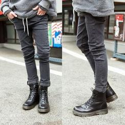TOMONARI - Brushed-Fleece Lined Slim-Fit Jeans