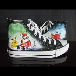 HVBAO - 'Santa Claus' High-Top Canvas Sneakers