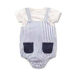 Madou - Set: T-Shirt + Striped Bodysuit