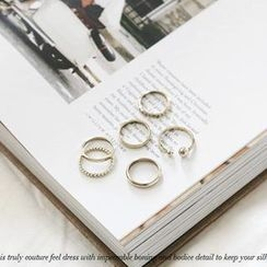NANING9 - Set of 6: Metal Rings