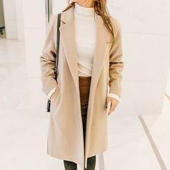 Seoul Fashion - Raglan-Sleeve Single-Breasted Coat