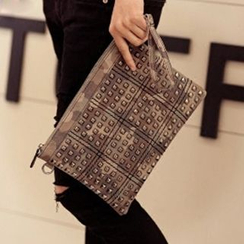 BagBuzz - Studded Camouflage Clutch