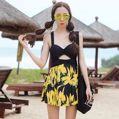 Beach Date - Pepper-Print Swim Dress