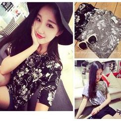 QZ Lady - Short-Sleeve Floral Print T-Shirt