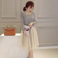 Romantica - Set: Knit Top + Tulle Dress