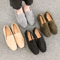 VIVIER - Round-Toe Faux-Suede Loafers
