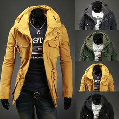 Hansel - Hooded Military Jacket
