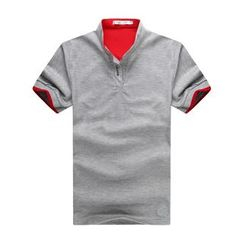 Hansel - Short-Sleeve Color Block Polo Shirt
