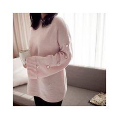 MASoeur - Faux-Pearl Trim Sweater
