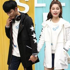 Igsoo - Couple Matching Hooded Coat