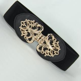 Jamie - Filigree Metal-Accent Elastic Belt