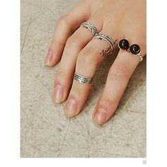 PINKROCKET - Patterned Silver Ring