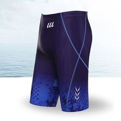 Mermaid's Tale - Patterned Swim Shorts