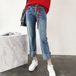 Mayflower - Washed Straight Leg Jeans