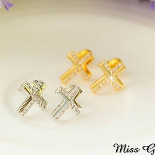 Miss Girl - Rhinestone Cross Studs