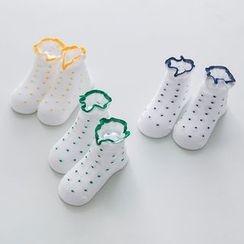 Rosetta - Set of 3: Kids Ruffled Dotted Socks