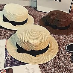 Pompabee - Bow Straw Hat