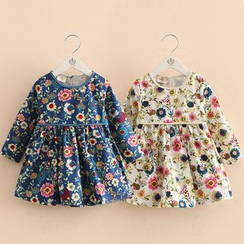 Seashells Kids - Kids Floral Print Long-Sleeve Dress