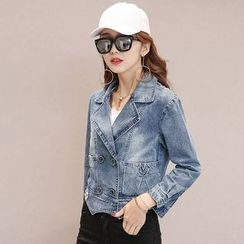 Romantica - Double-Breasted Denim Jacket