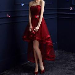 Shannair - 露肩後結帶禮服裙