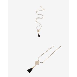 UPTOWNHOLIC - Metallic Tassel Necklace