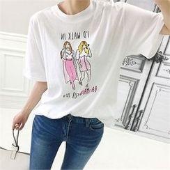 Babi n Pumkin - Elbow-Sleeve Printed T-Shirt