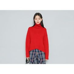 Envy Look - Turtle-Neck Wool Blend Sweater