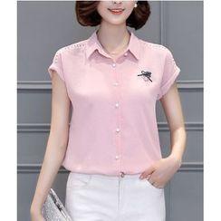 Eighoo - Short Sleeve Chiffon Shirt