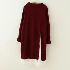 Meimei - Slit Long Sweater
