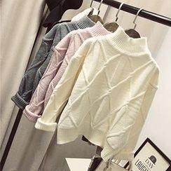 Polaris - 钻石小高领毛衣