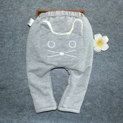 Debii - Kids Cat-Accent Fleece-Lined Pants
