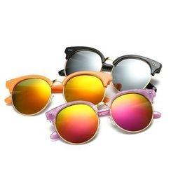 AORON - 兒童復古圓框太陽眼鏡