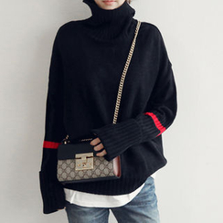 NANING9 - Turtle-Neck Oversized Sweater