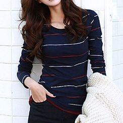 Ranee - Long-Sleeve Stripe T-Shirt