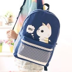 Canvas Love - Cat Canvas Backpack