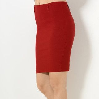 59 Seconds - Elastic-Waist Slit-Back Pencil Skirt