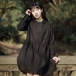 tete - Double-Breasted Long-Sleeve Dress
