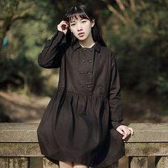 tete - 雙排釦長袖連衣裙