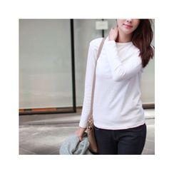 MASoeur - Long-Sleeve Plain T-Shirt