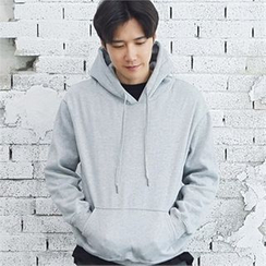 MITOSHOP - Hooded Brushed-Fleece Lined Pullover