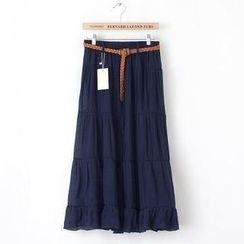 JVL - Tiered A-Line Maxi Skirt