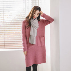 JUSTONE - Dual-Pocket Knit Shift Dress