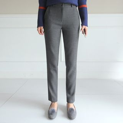 CLICK - Flat-Front Slim-Fit Pants