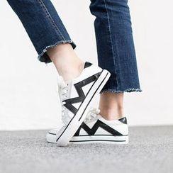 VIVIER - Faux-Suede Contrast-Trim Sneakers