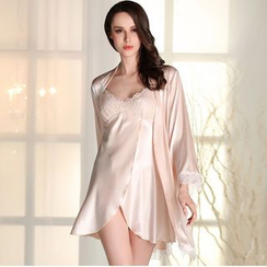 Charming Lover - Set: Night Robe + Nightdress