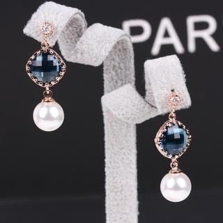 Supermary - Jeweled Beaded Drop Earrings