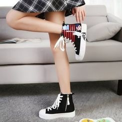 Solejoy - High-Top Canvas Sneakers