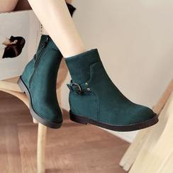 幸福鞋坊 - 仿麂皮及踝靴
