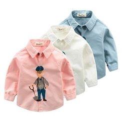 Kido - 小童印花衬衫